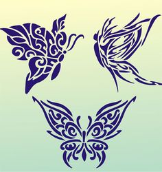 Butterfly tattoo 03 (stencil for walls) Tattoo Stencil Designs, Tattoo Stencils, Stencil Diy, Butterfly Stencil, Tribal Butterfly, Pewter Art, Paper Cutting Templates, Fabric Stamping, Paint Designs
