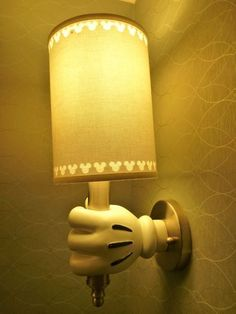 Lamp Holder for my Mickey Master Bedroom ♥ Mickey Love, Mickey Y Minnie, Disney Mickey, Mickey Hands, Disney Bathroom, Disney Kitchen, Disneyland Hotel, Downtown Disney, Disney Dream