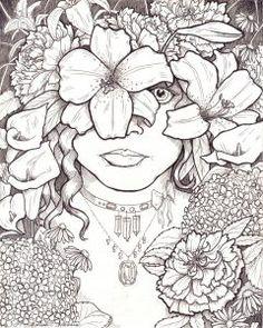 Desenho face mulher