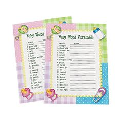 Baby Word Scramble Baby Shower Game ~ 24 sheets OTC OTC http://www.amazon.com/dp/B004SYO5BE/ref=cm_sw_r_pi_dp_dwm2wb06RA4PD