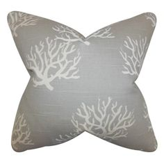 Finish off your home with this beach-inspired throw pillow. This toss pillow features a coastal print in shades of grey. Place this accent pillow in your living room, bedroom or lounge area. Reversibl