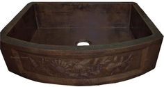 #Coppersinks add to the #kitchen #traditional character and increase property value. The color finishing are quite universal as natural fired #copper, honey, rustic and dark coffee patina finishing can easily blend in to any existing kitchen decor. Alternative finishes are nickel-platted and polished used in more modern settings. On #myCustomCopper site you can choose one of many apron #sinks, some of them have #decorative #patterns.