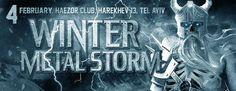 Winter Metal Storm 2017: Whispered, Winterhorde, Deface, Katastrof & Ingrain, The Zone Tel Aviv 2/4/17