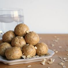 These healthy no bake Cookies 'N Creme Protein Balls are packed full of nutritious ingredients, such as flax seed, oats, and protein powder.