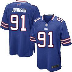 Nike Limited NFL Jersey Blue Youth Spencer Johnson Jersey Buffalo Bills #91 Jersey Sale
