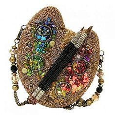 """Painters palette"" (""Палитра"") - вышитая бисером сумочка от Mary Frances"