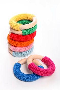 Crochet teething ring by Koukku