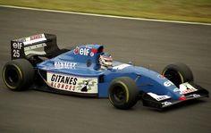 Franck Lagorce (Ligier-Renault V10, JS39B). Japanese GP, Suzuka, 1994. #F1 Formula 1