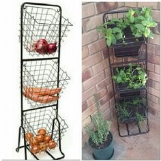 Use a Kmart veggie caddy as a vertical herb garden. Great hack for small spaces #kmarthack #kmart