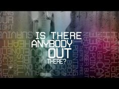Is Anybody Out There? Lyric Video - KNAAN (feat. Nelly Furtado) Another great way of creating a bigger image using the words as building blocks.