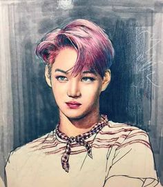 Image via We Heart It https://weheartit.com/entry/183717731/via/16486430 #cute #exo #fanart #kai #jongin #lovemeright