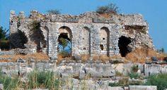 245-ROMAN TOWN PLANNING, Miletus: [Proto-Baroque] Remains of Nymphaeum, Miletus, Turkey. 150 Ad.
