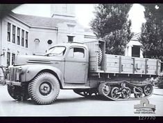 3-Ton Half-Tracked Ford (Australia) truck fitted with tracks from a Universal Carrier. One of the many attempts to improve the movement of s...