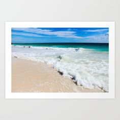 Tulum Waves Art Print