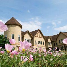 Romantic turrets of the Goldmoor in Galena, Illinois.