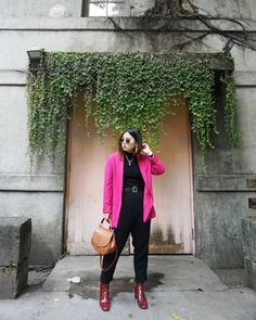 First Day Job Outfit Ideas - Pink Blazer