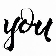 #you // #copicbrushpen #handlettering