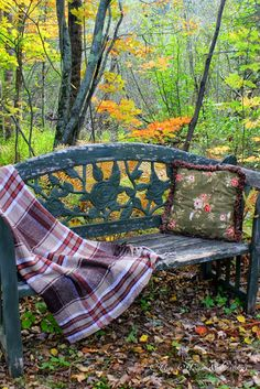 Down in the woods by the brook-it is a nice peaceful place to sit a spell...