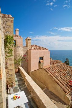 Enjoy a unique accommodation in the castle of Monemvasia. Luxury suites in Monemvasia. Greece Vacation, Greece Travel, Beautiful Islands, Beautiful Places, Beautiful Scenery, Greece People, Monemvasia Greece, Places Around The World, Around The Worlds