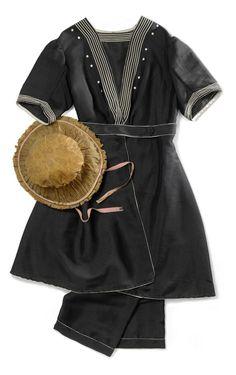 Badeanzug, um 1905, schwarzer Luster © Wien Museum Splish Splash, Summer Heat, Bathing, Museum, History, Unique, Collection, Fashion, Fashion Styles