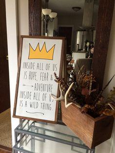 Where the wild things are quote wood sign by RyansPlaceHomeDecor