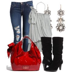 A fashion look from February 2013 featuring AllSaints tops, J Brand jeans and La Canadienne boots. Browse and shop related looks.