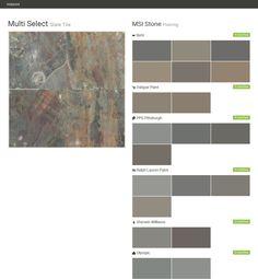 rustic gold slate tile flooring msi stone behr ppg pittsburgh