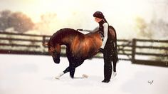 DHS The Bay Baron  // The Sims 3, horses, The sims 3 horse, Sims, Sims 3, bay horse, Natural horsemanship, Diamond Heart Stables, DHS, DH Stables, compliment, love,