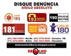 DE OLHO 24HORAS: DENÚNCIA 24 HORAS