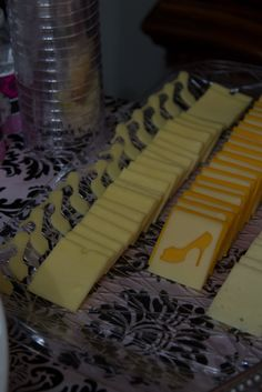 Glam fashion party cheese platter.