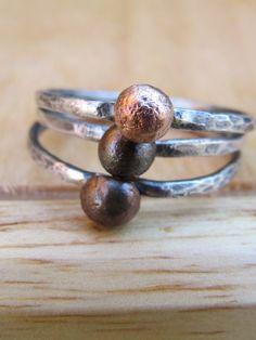 Simple silver rings
