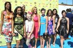 Holly,Nia,Jess,JoJo,Melissa,Kendall,Kalani,Kira,and Gina at the TCAS 2015