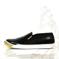 Louis Vuitton Patent Leather Gold Studded Tempo Slip- On Sneaker Black Athletic Shoes. Get the must-have athletic shoes of this season! These Louis Vuitton Patent Leather Gold Studded Tempo Slip- On Sneaker Black Athletic Shoes are a top 10 member favorite on Tradesy. Save on yours before they're sold out!