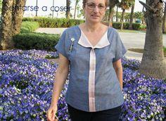 Blusa de Weekend Getaway Liesl+Co. Patterns