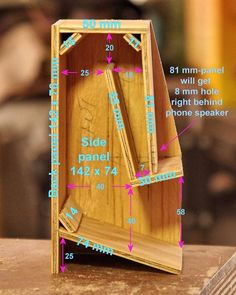 caixas de madeira Folded Horn Passive Phone Speaker: There's something very attractive about a piece of equipment that needs no electrical power, and the passive phone speaker fits in Woodworking Courses, Learn Woodworking, Woodworking Projects, Woodworking Jigsaw, Woodworking Equipment, Wooden Speakers, Diy Speakers, Passive Speaker, Speaker Box Design