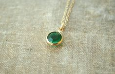 Emerald Eyes - A Gold Filled Necklace