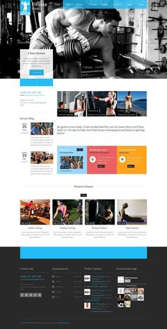 Fitness Club - Responsive Gym Fitness Template by Zizaza - design ocean , via Behance