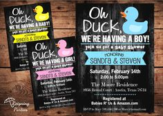 Rubber Duck Baby Shower Invitation  Oh Duck by ReigningParties, $20.00