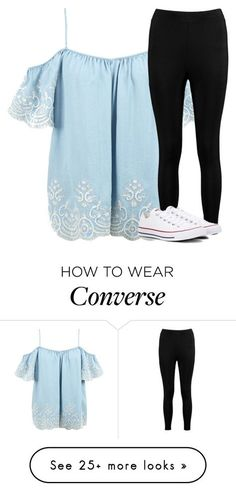 """""""Untitled #2678"""" by laurenatria11 on Polyvore featuring Boohoo and Converse"""