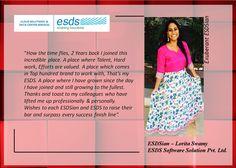 Meet Exuberant ESDSian – Lorita Swamy  #Success #EmployeeSatisfaction #JobSatisfaction
