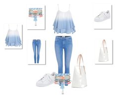 Summer time by nefertiti001 on Polyvore featuring Paige Denim, adidas and New Look