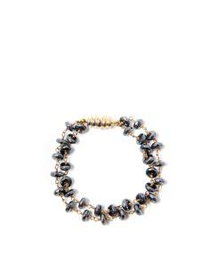 Porter Lyons - Oyster Pearl & Honeycomb Double Bracelet