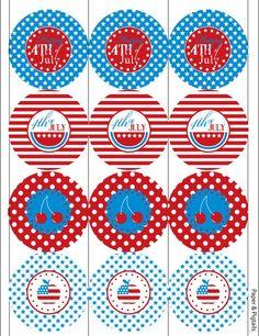 July 4th free printable circles