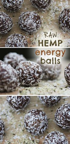 Raw Hemp Energy Balls, sweetened naturally with dates.
