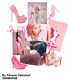 """""""Think Pink"""" by f4rever-fabulust ❤ liked on Polyvore featuring Nicki Minaj, Christian Louboutin, Gianvito Rossi, Pink, 4Faboutique and IAm4Fab"""