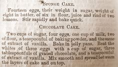 yummy recipe from the 1800's