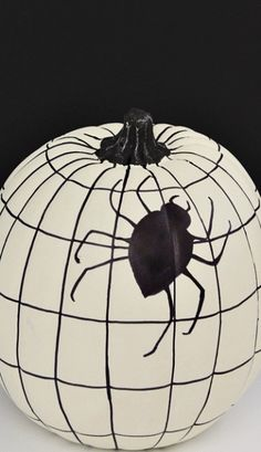 DIY Spider Web Pumpkin