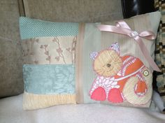 Cute cat cushion made 8/8/13.  I love this, I must say its one of my favourite makes so far xxx