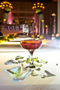 pink Moet (not my favorite .. but wouldn't turn it down)
