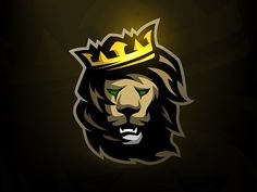 The Lion King logo. : Hello everyone, this is my first Dribbble shot. Style for the invitation! Team Logo Design, Logo Desing, Logo Esport, Lion Vector, Knight Logo, Esports Logo, Lion Logo, Lion Art, Photo Logo